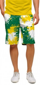 Green & Gold Paint Men's Short MTO