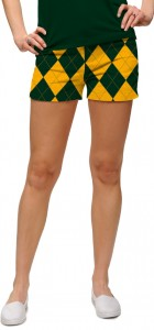Hunter Green & Gold Mega Women's Mini Short MTO