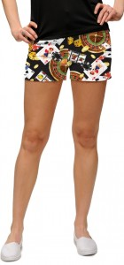 Jackpot Black StretchTech Women's Mini Short MTO