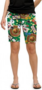 Jackpot Green StretchTech Women's Bermuda Short MTO