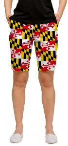 Maryland Flag StretchTech Women's Bermuda Short MTO