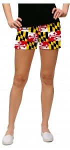 Maryland Flag StretchTech Women's Mini Short MTO