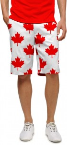 Canada Maple Leaf White StretchTech Men's Short MTO