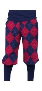 Navy & Red Mega StretchTech Knickerbockers MTO