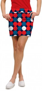 Disco Balls Red StretchTech Women's Skort/Skirt MTO
