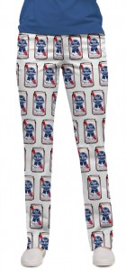 .Pabst Blue Ribbon Cans Women's Capri/Pant MTO