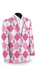 Pink Ribbon Argyle StretchTech Men's Sport Coat MTO