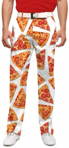 Pizza Slices White StretchTech Men's Pant