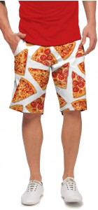 Pizza Slices White StretchTech Men's Short