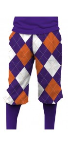 Purple & Orange Argyle StretchTech Knickerbockers MTO