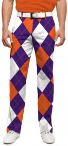 Purple & Orange Argyle StretchTech Men's Pant MTO