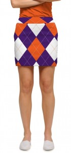 Purple & Orange Argyle StretchTech Women's Skort/Skirt MTO